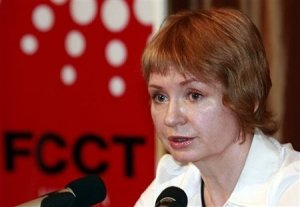 Alla Bout, Wife of Viktor Bout, Speaking at the FCCT in Bangkok Thailand.